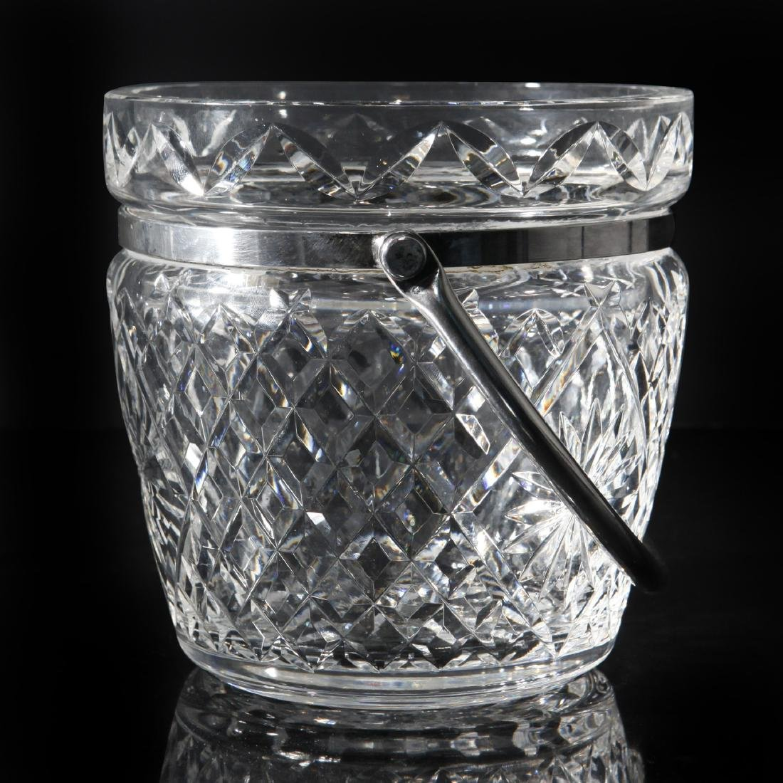 WATERFORD CRYSTAL GIFTWARE HANDLED ICE BUCKET