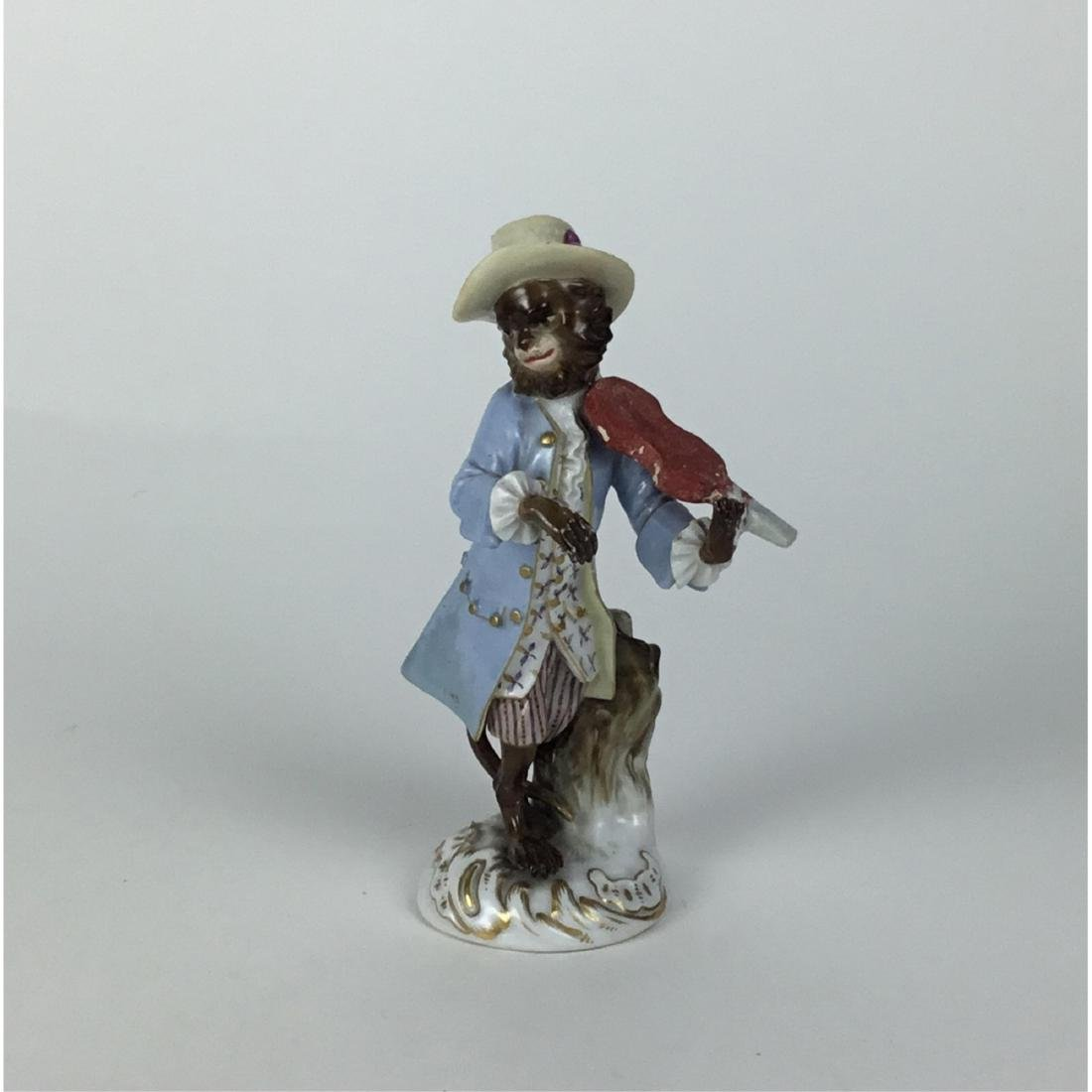 MEISSEN MONKEY BAND VIOLINIST FIGURINE