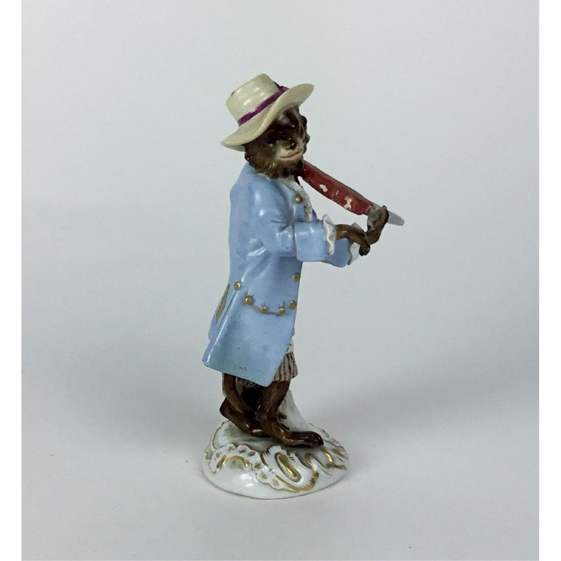 MEISSEN MONKEY BAND VIOLINIST FIGURINE - 2