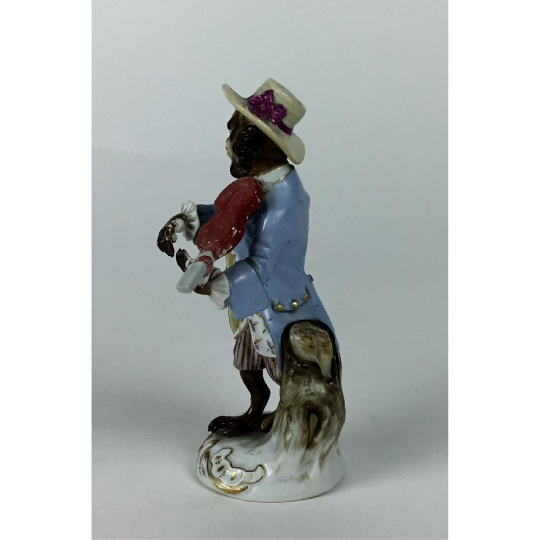 MEISSEN MONKEY BAND VIOLINIST FIGURINE - 4