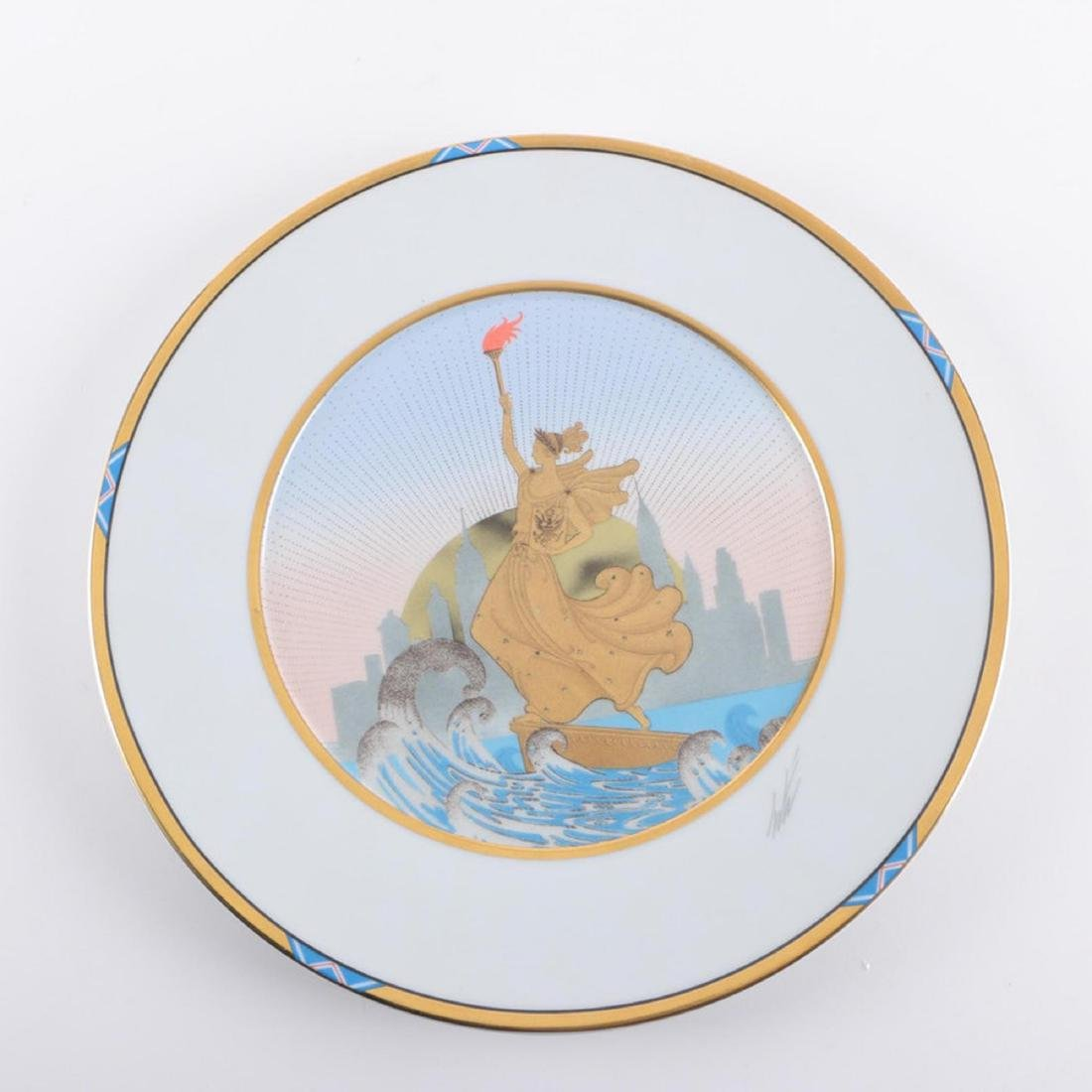 ERTE LIBERTY CHARGER SIGNED LARGE PLATE