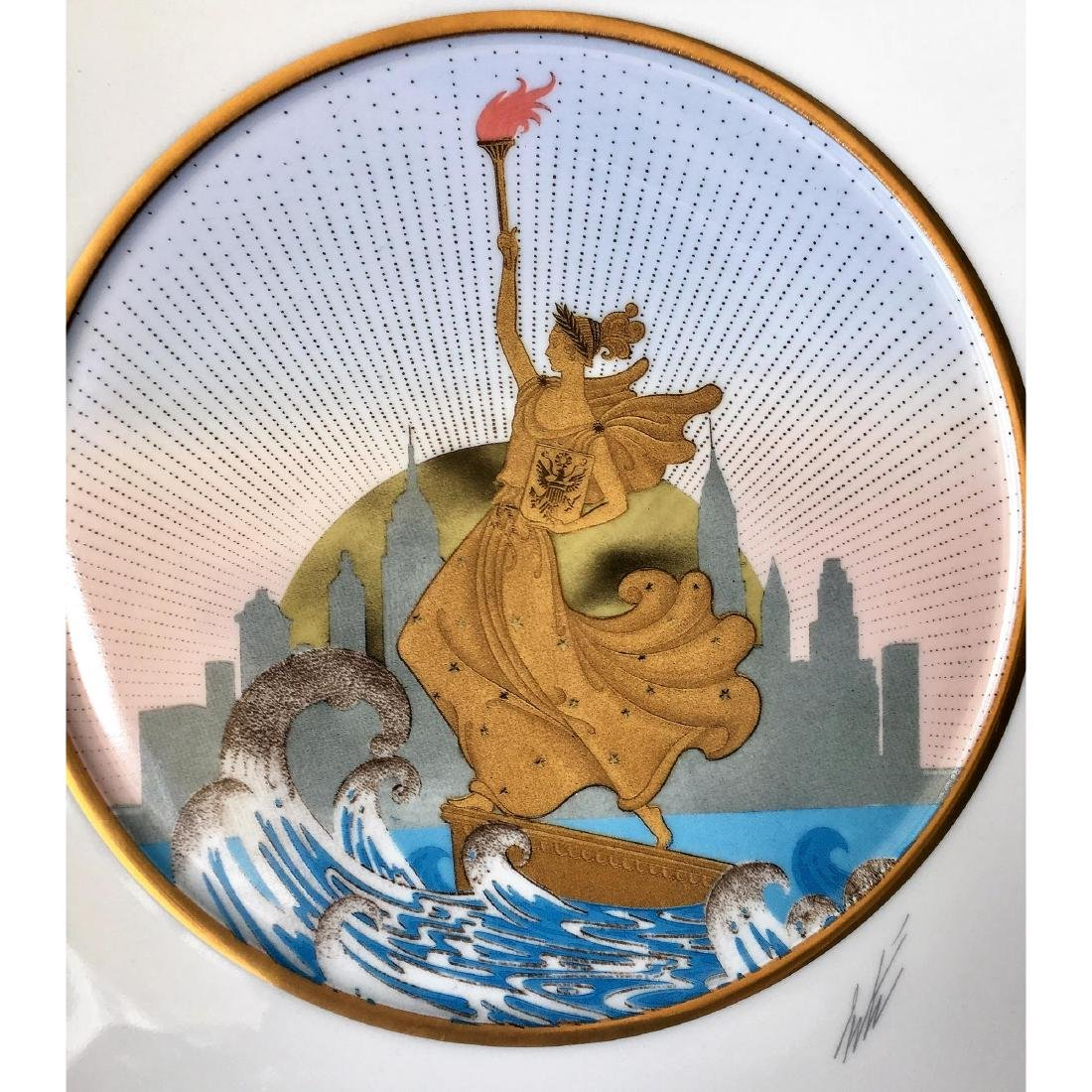 ERTE LIBERTY CHARGER SIGNED LARGE PLATE - 2
