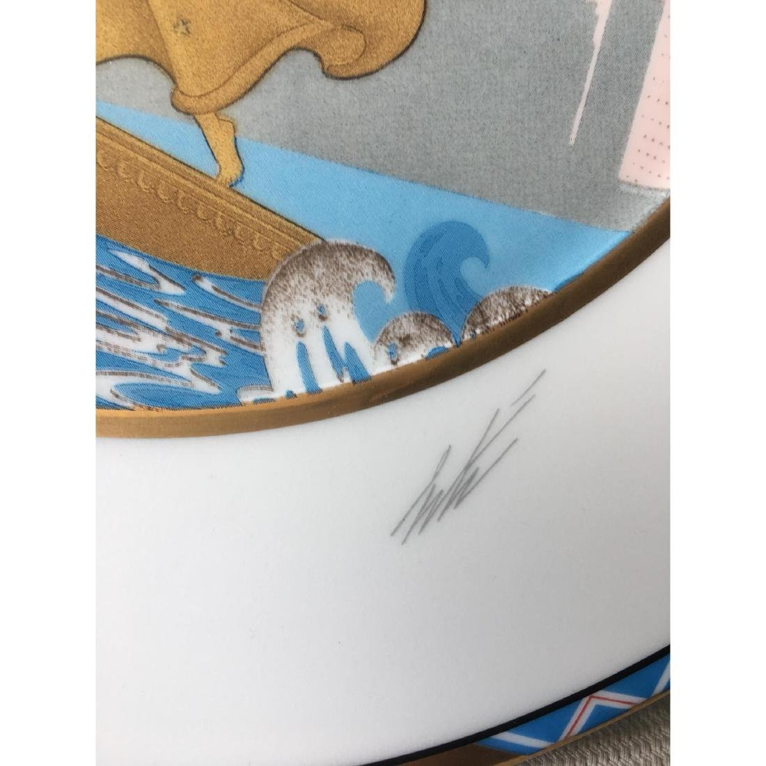 ERTE LIBERTY CHARGER SIGNED LARGE PLATE - 3