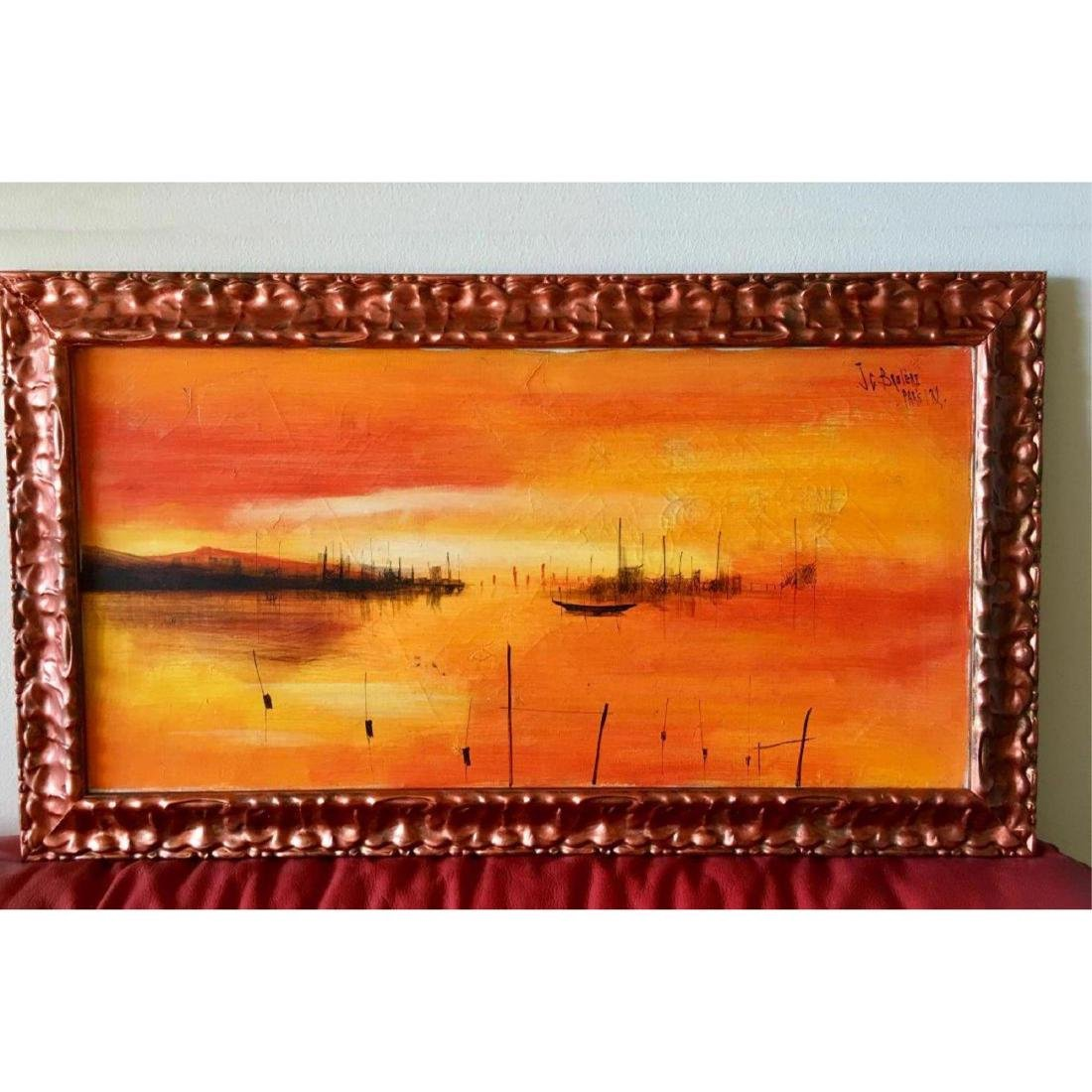 JEAN CLAUDE BRULERE FRENCH OIL PAINTING