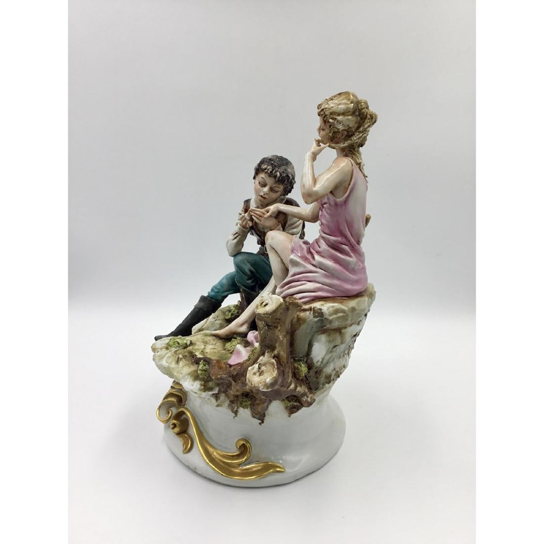 CAPODIMONTE LARGE PORCELAIN MAN & WOMAN FIGURINE - 2