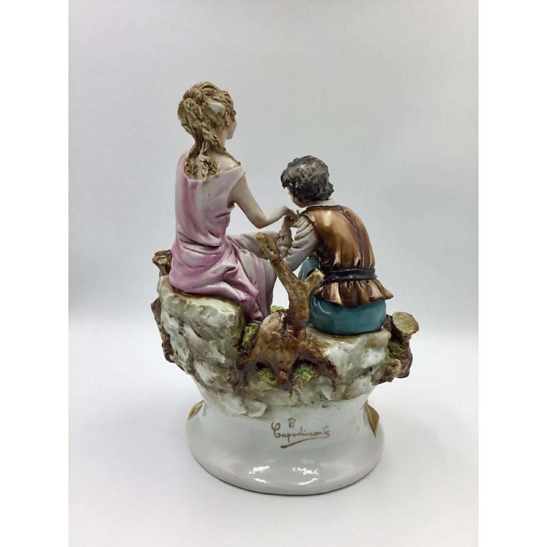 CAPODIMONTE LARGE PORCELAIN MAN & WOMAN FIGURINE - 3