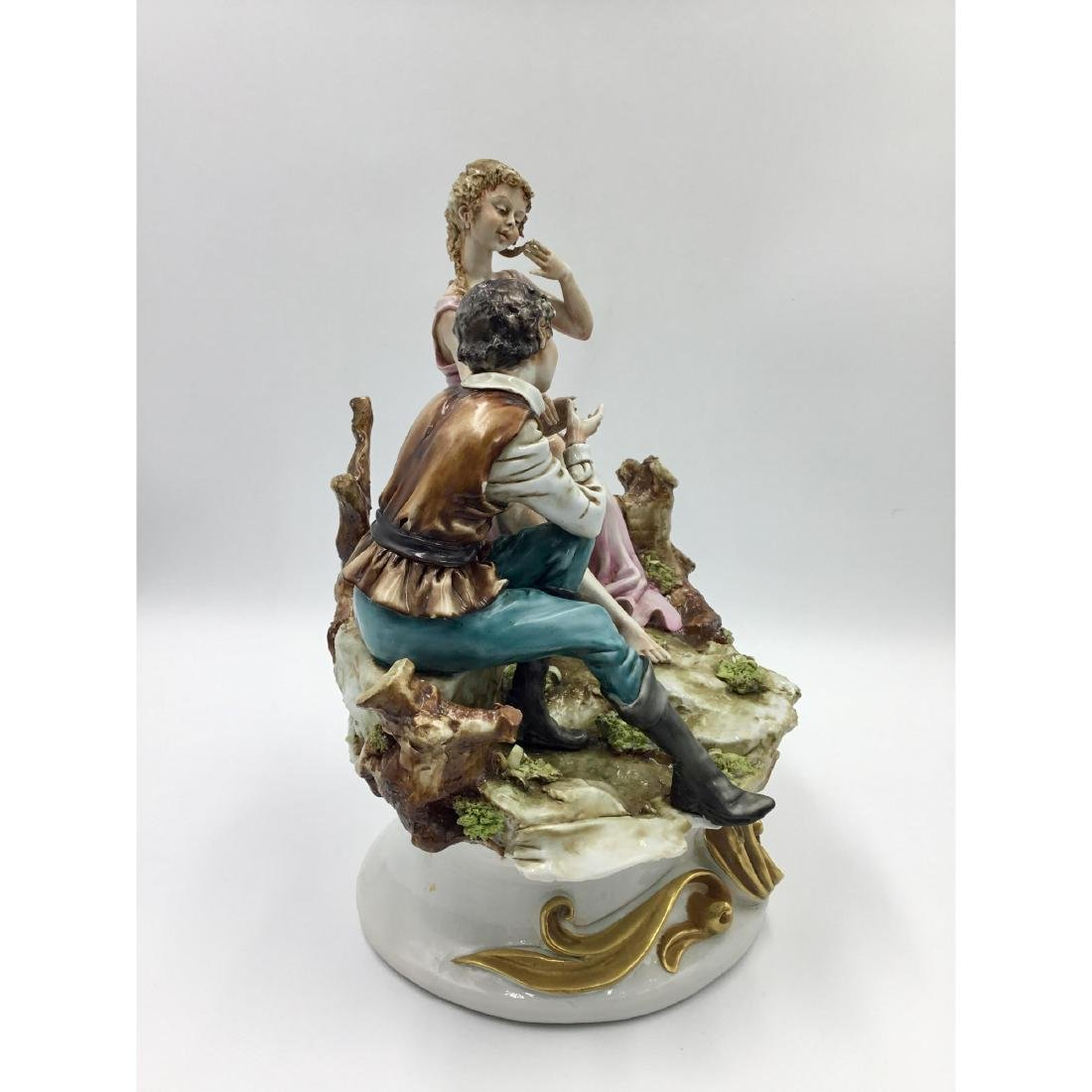 CAPODIMONTE LARGE PORCELAIN MAN & WOMAN FIGURINE - 4