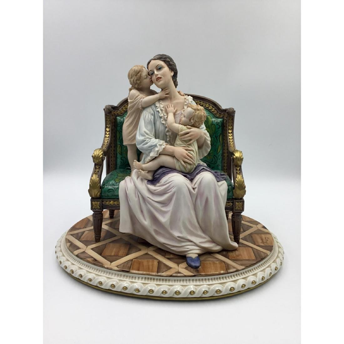 CAPODIMONTE LARGE PORCELAIN GROUP FIGURINE