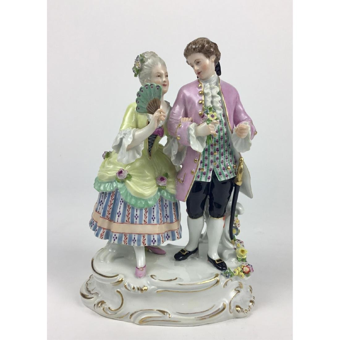 MEISSEN STROLLING LOVERS GROUP FIGURINE