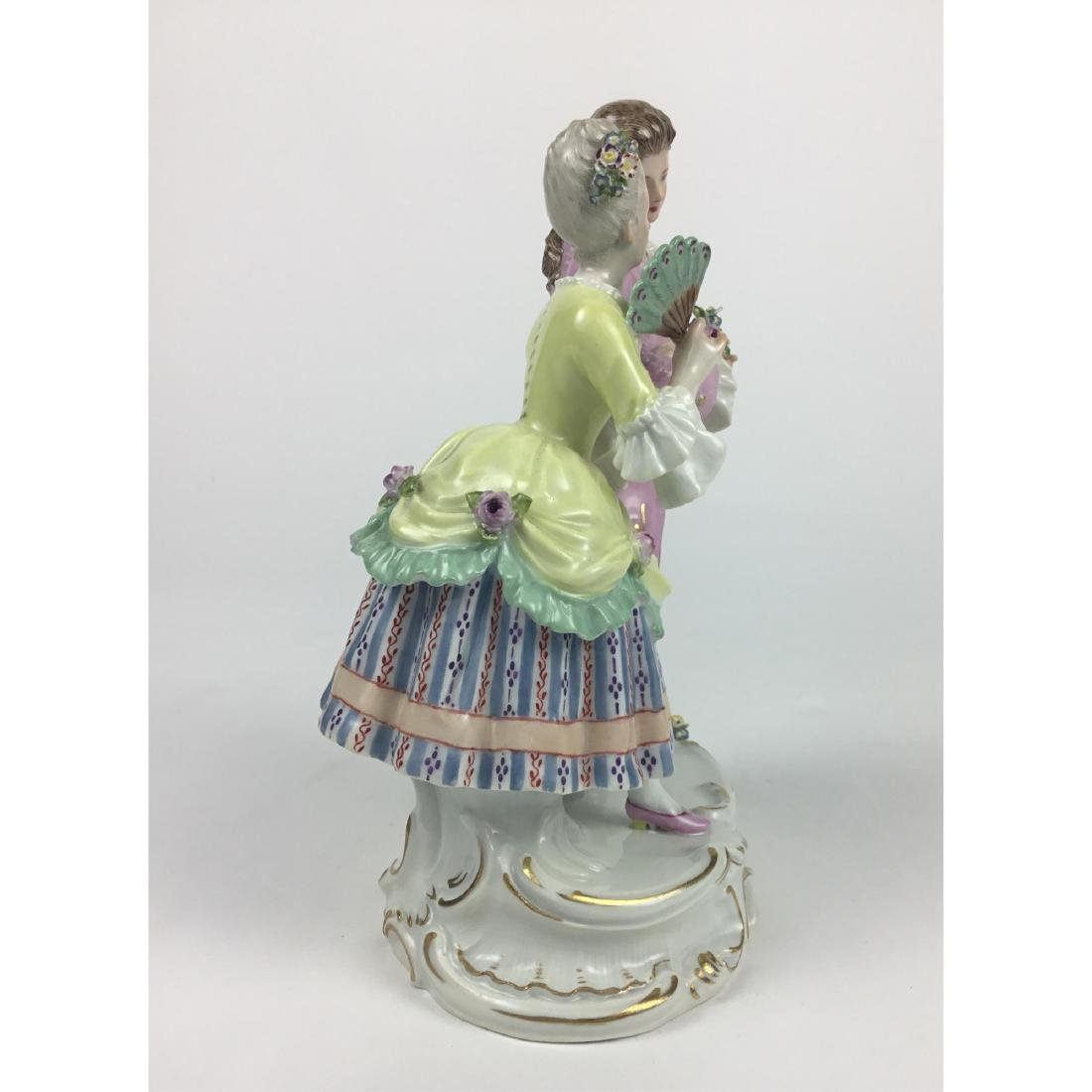 MEISSEN STROLLING LOVERS GROUP FIGURINE - 4