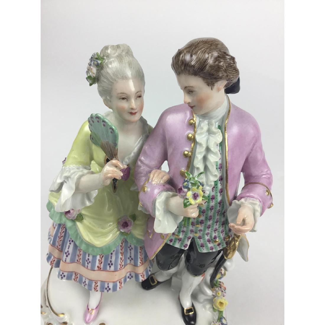 MEISSEN STROLLING LOVERS GROUP FIGURINE - 5