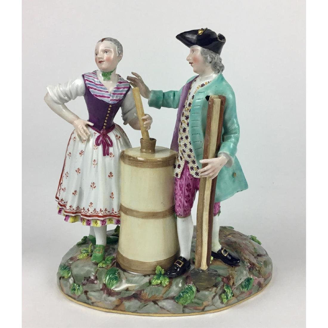 MEISSEN GROUP FIGURINE RUSTIC MAN AND WOMAN
