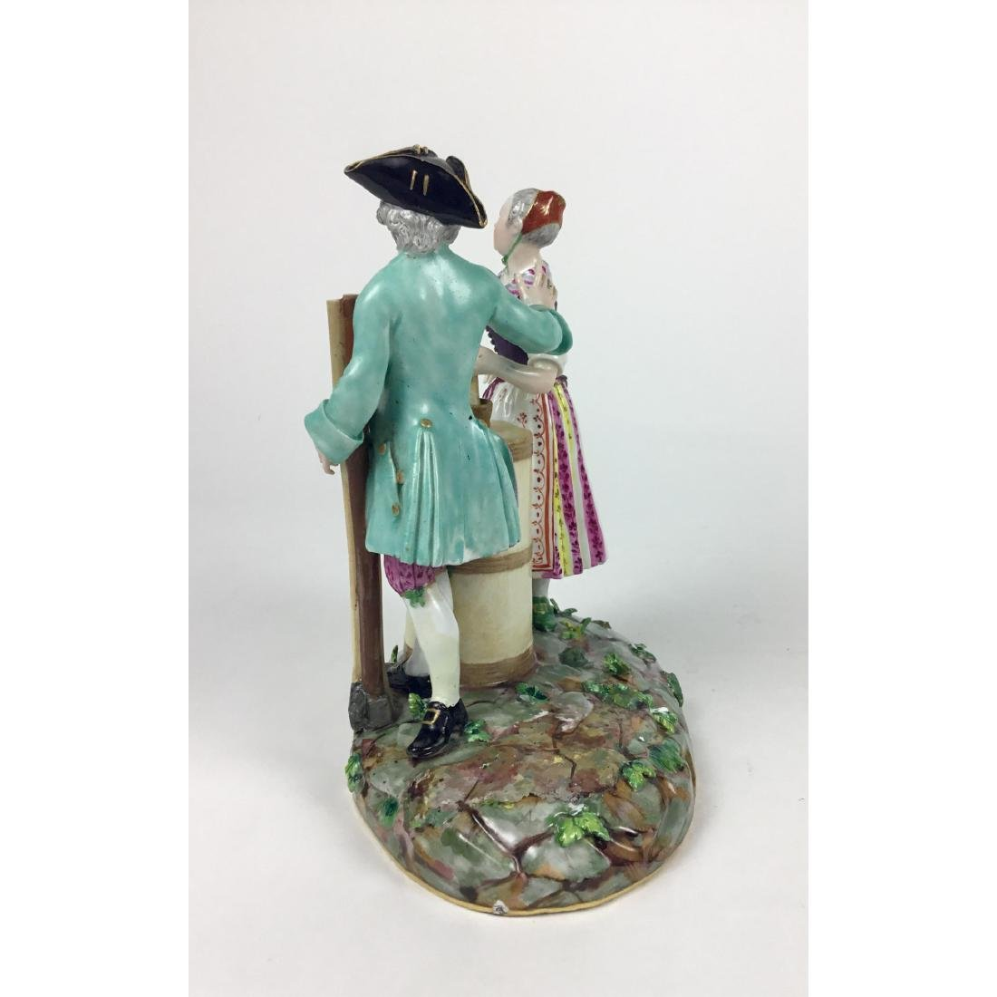 MEISSEN GROUP FIGURINE RUSTIC MAN AND WOMAN - 2
