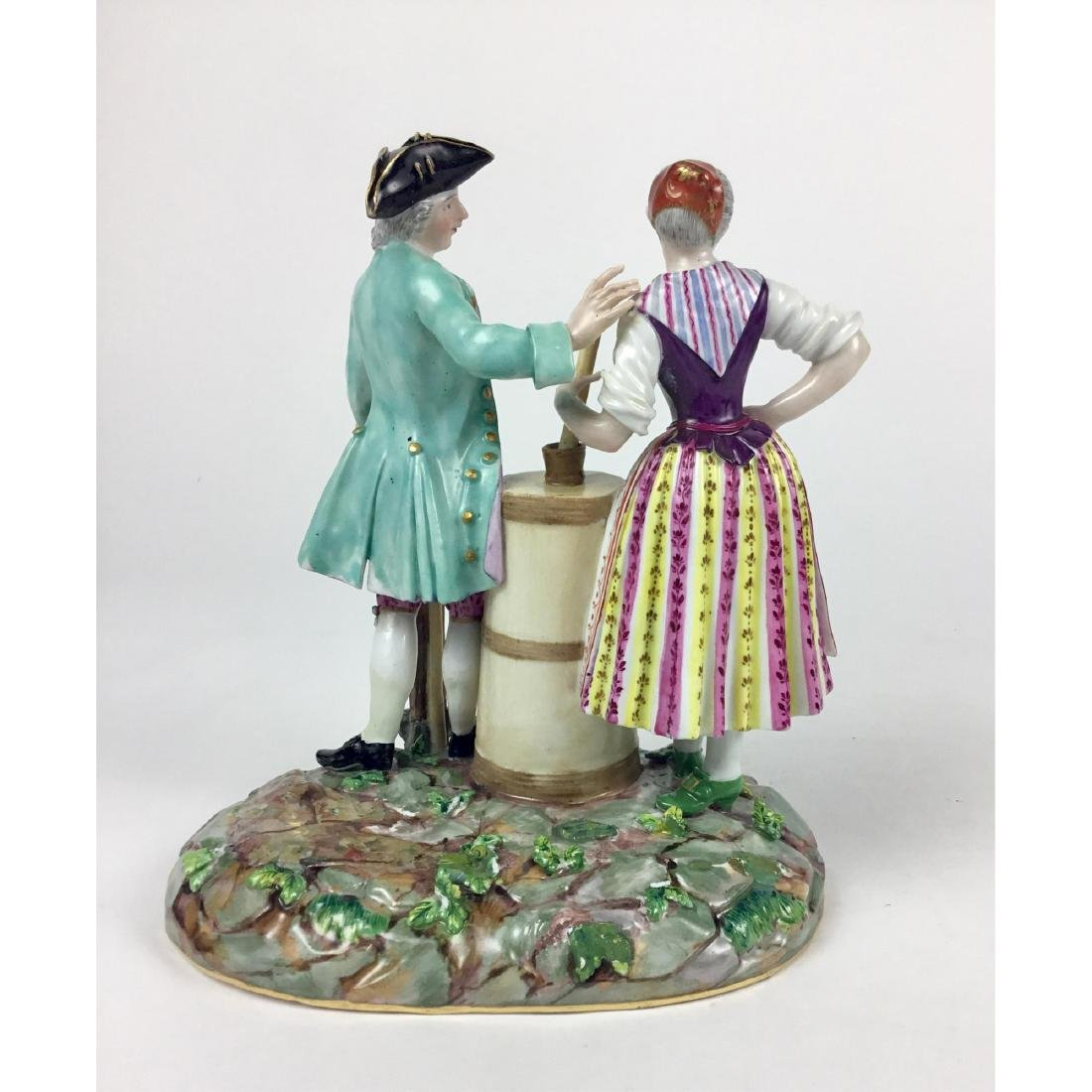 MEISSEN GROUP FIGURINE RUSTIC MAN AND WOMAN - 3