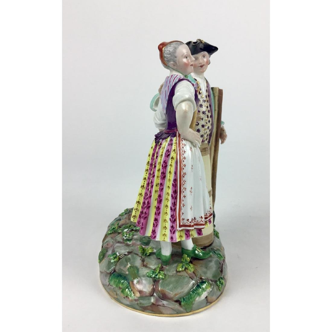 MEISSEN GROUP FIGURINE RUSTIC MAN AND WOMAN - 4