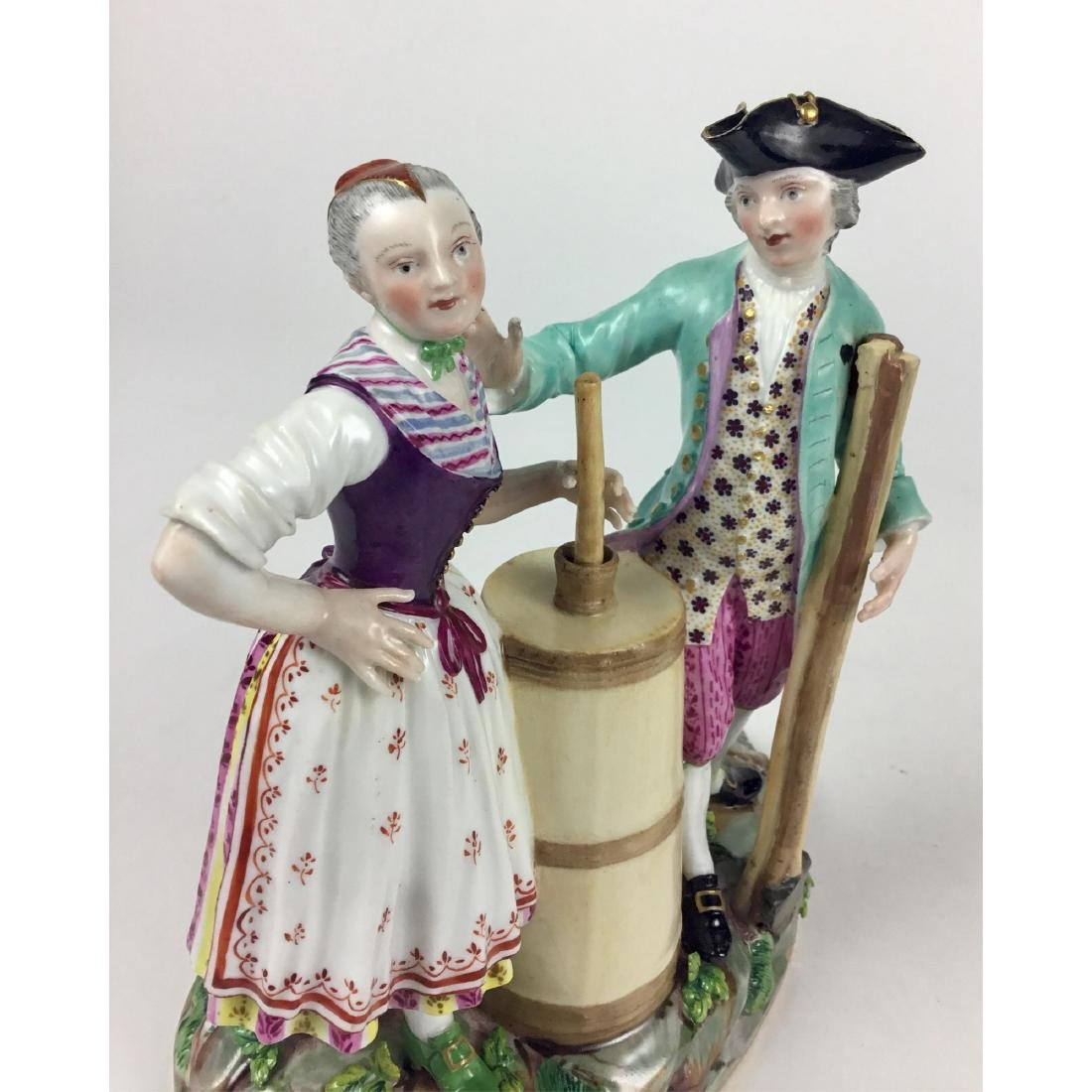 MEISSEN GROUP FIGURINE RUSTIC MAN AND WOMAN - 5