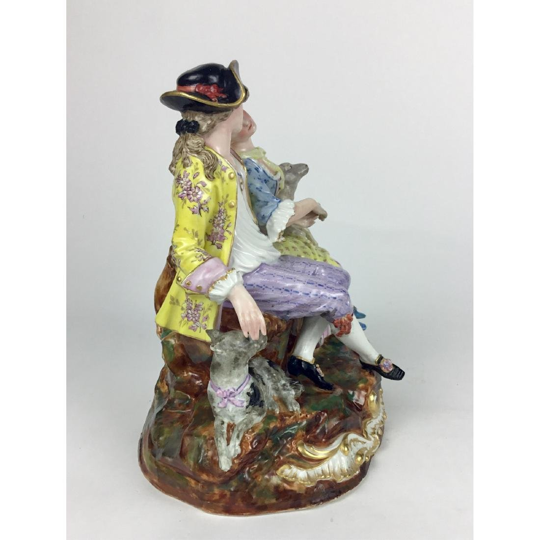 MEISSEN LOUNGING LOVERS GROUP FIGURINE - 3