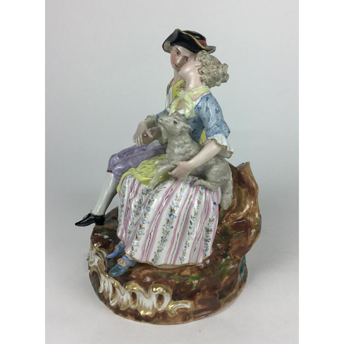 MEISSEN LOUNGING LOVERS GROUP FIGURINE - 7