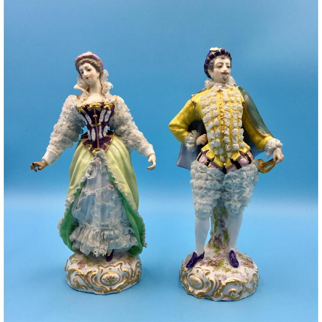 PAIR OF ACHILLE BLOCH FRENCH PORCELAIN FIGURINES