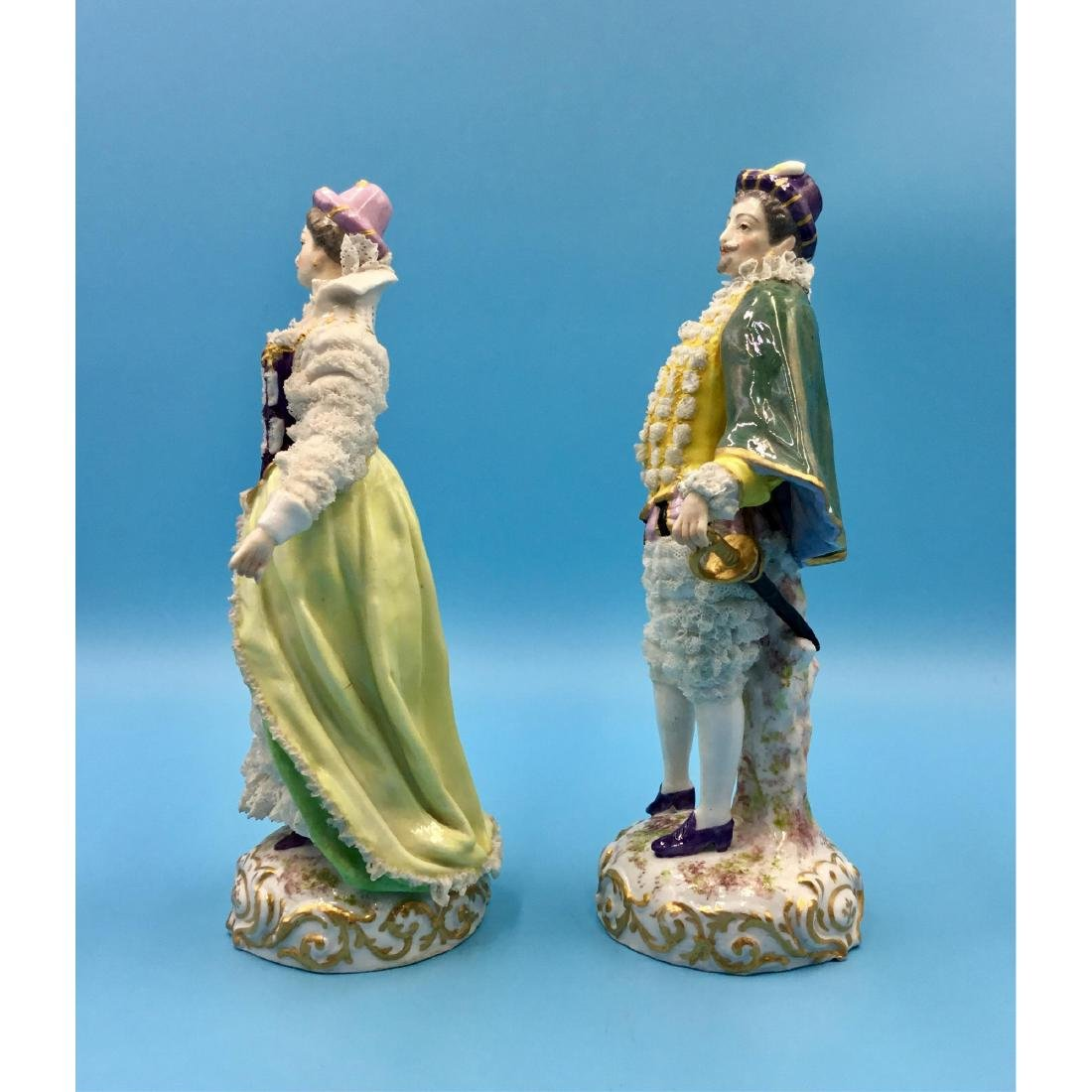 PAIR OF ACHILLE BLOCH FRENCH PORCELAIN FIGURINES - 2