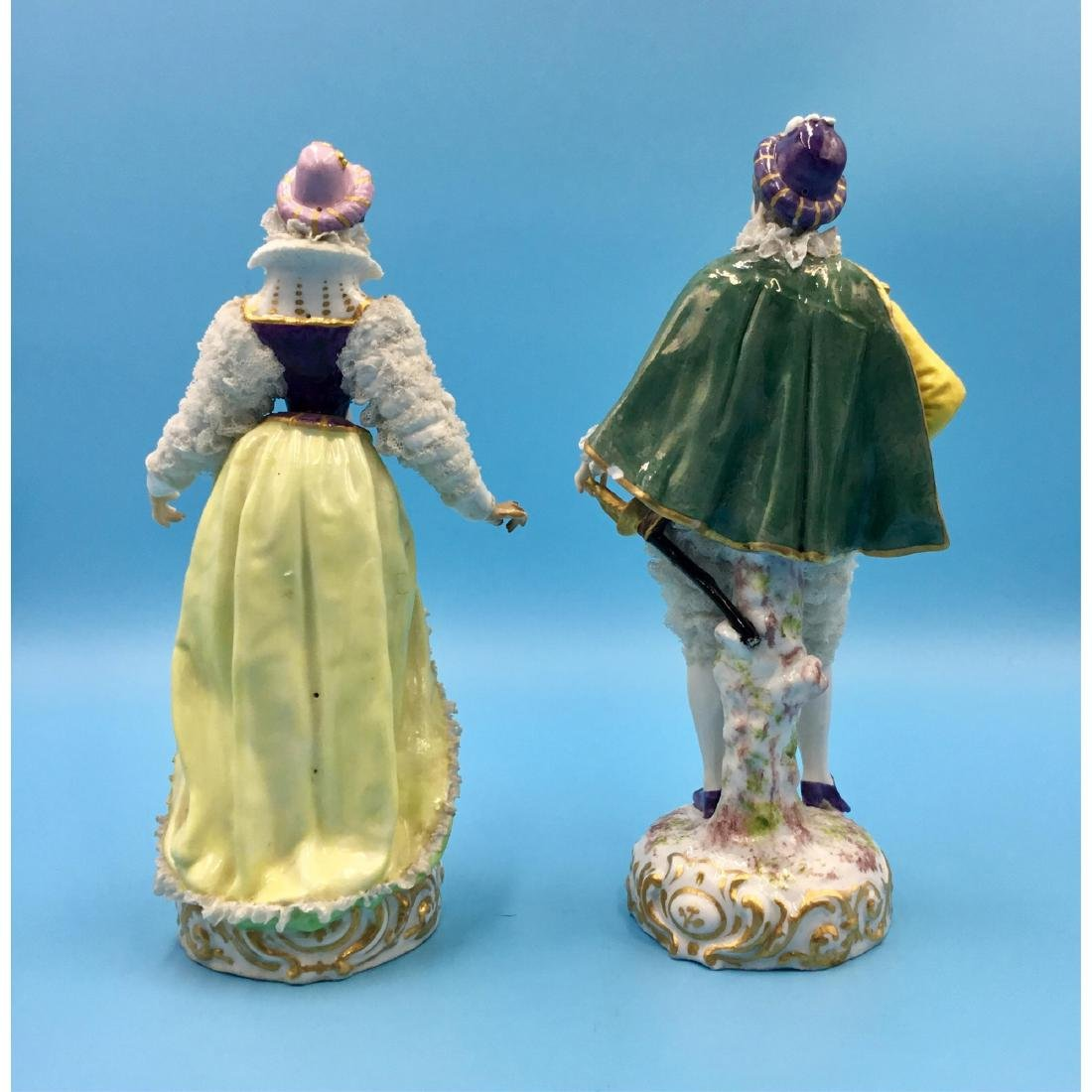 PAIR OF ACHILLE BLOCH FRENCH PORCELAIN FIGURINES - 3