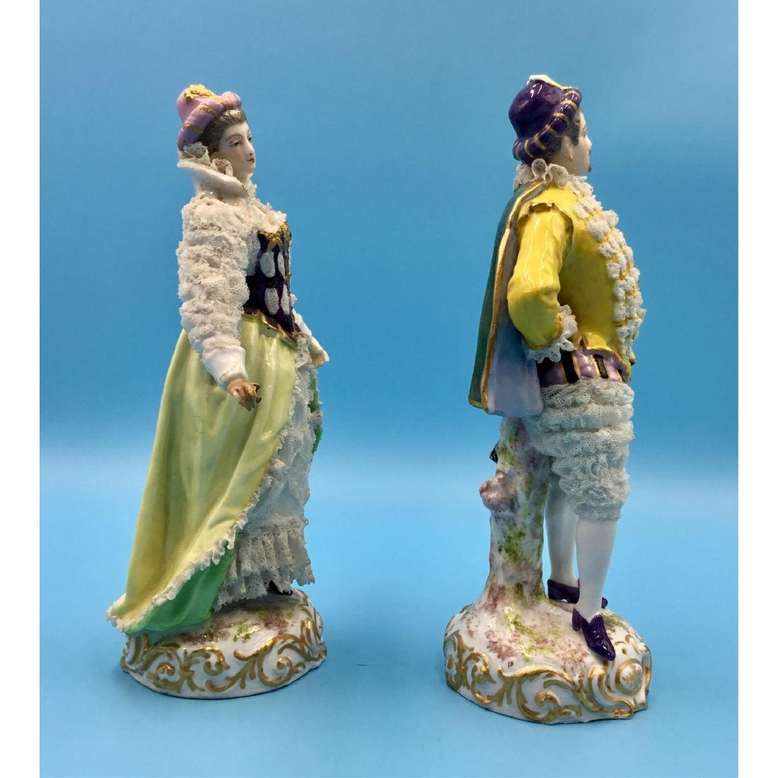 PAIR OF ACHILLE BLOCH FRENCH PORCELAIN FIGURINES - 4