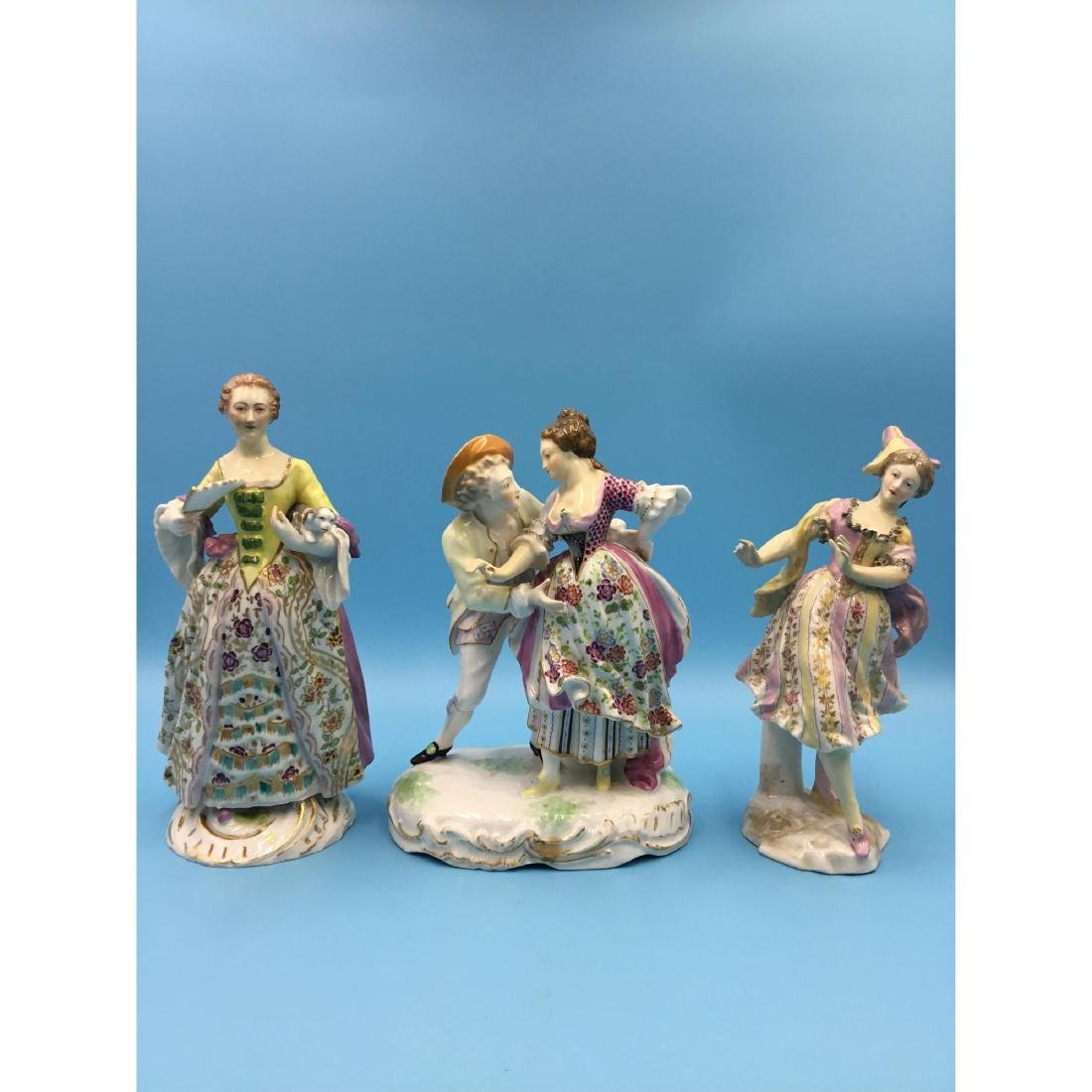 GROUP OF 3 SAMSON FRENCH PORCELAIN FIGURINES