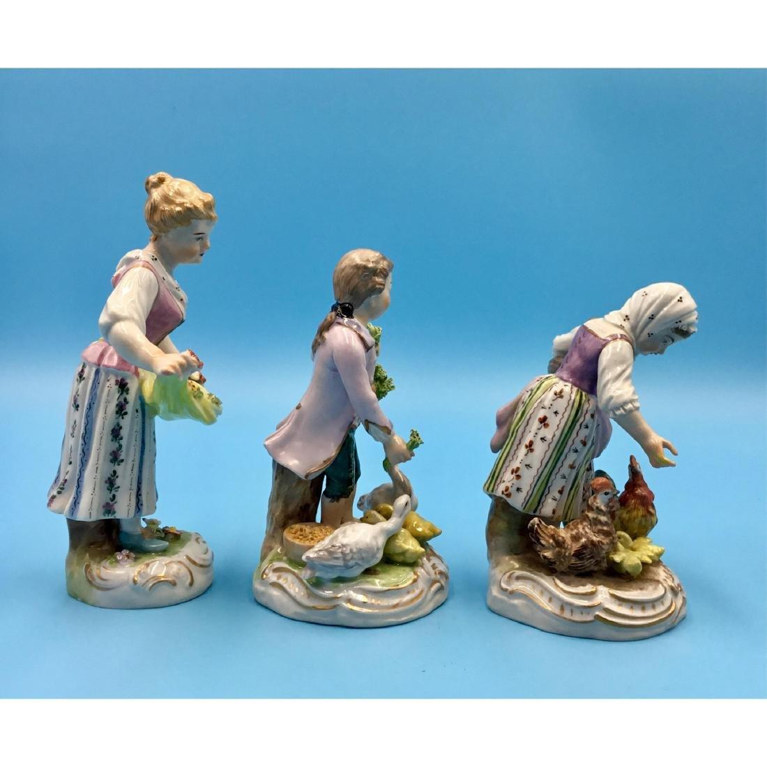 GROUP OF 3 DRESDEN GERMAN PORCELAIN FIGURINES - 4