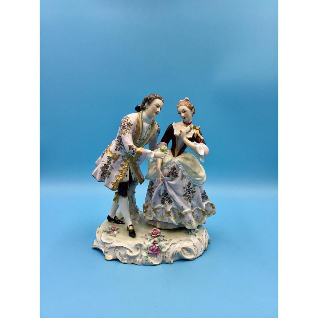SITZENDORF GERMAN PORCELAIN GROUP FIGURINE
