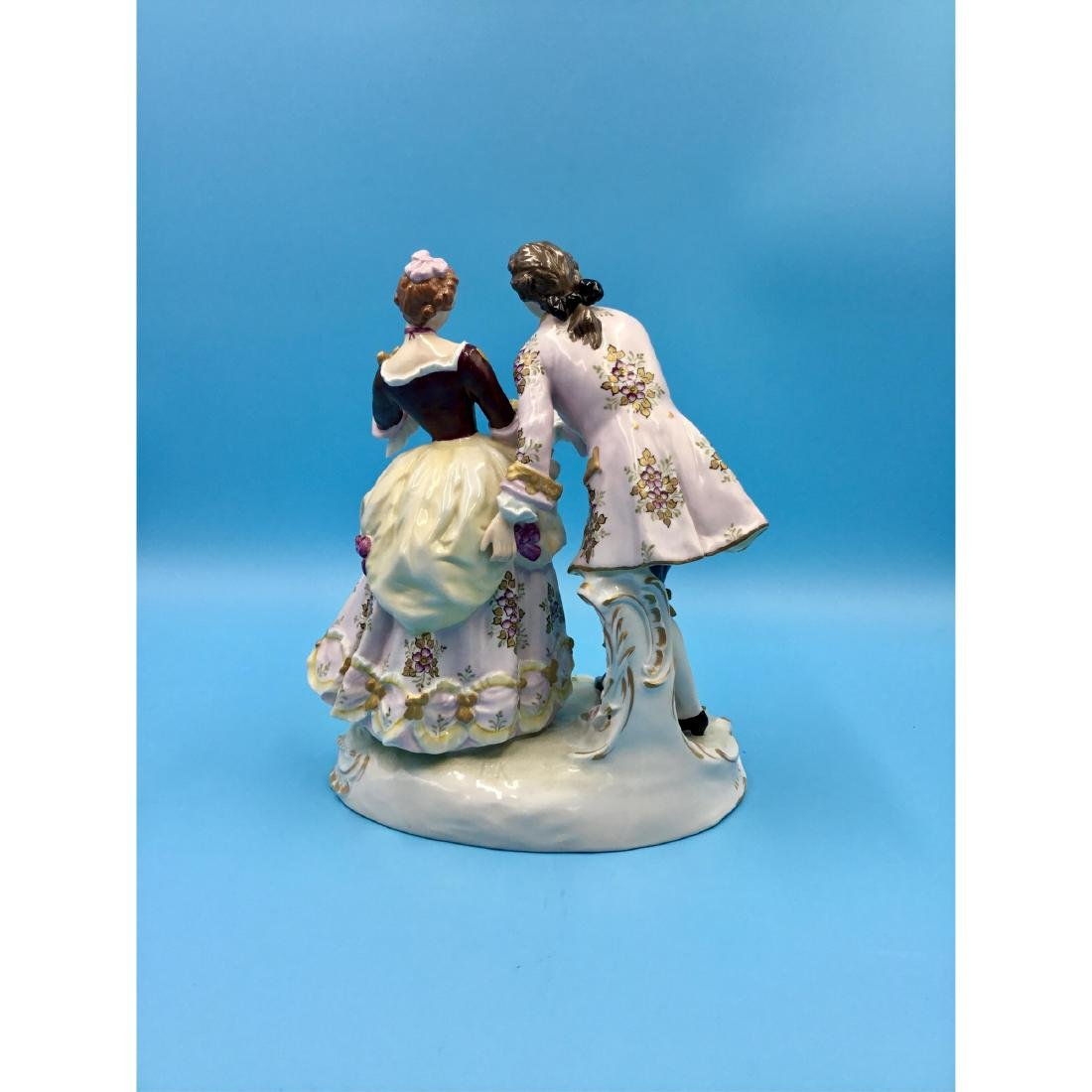 SITZENDORF GERMAN PORCELAIN GROUP FIGURINE - 3