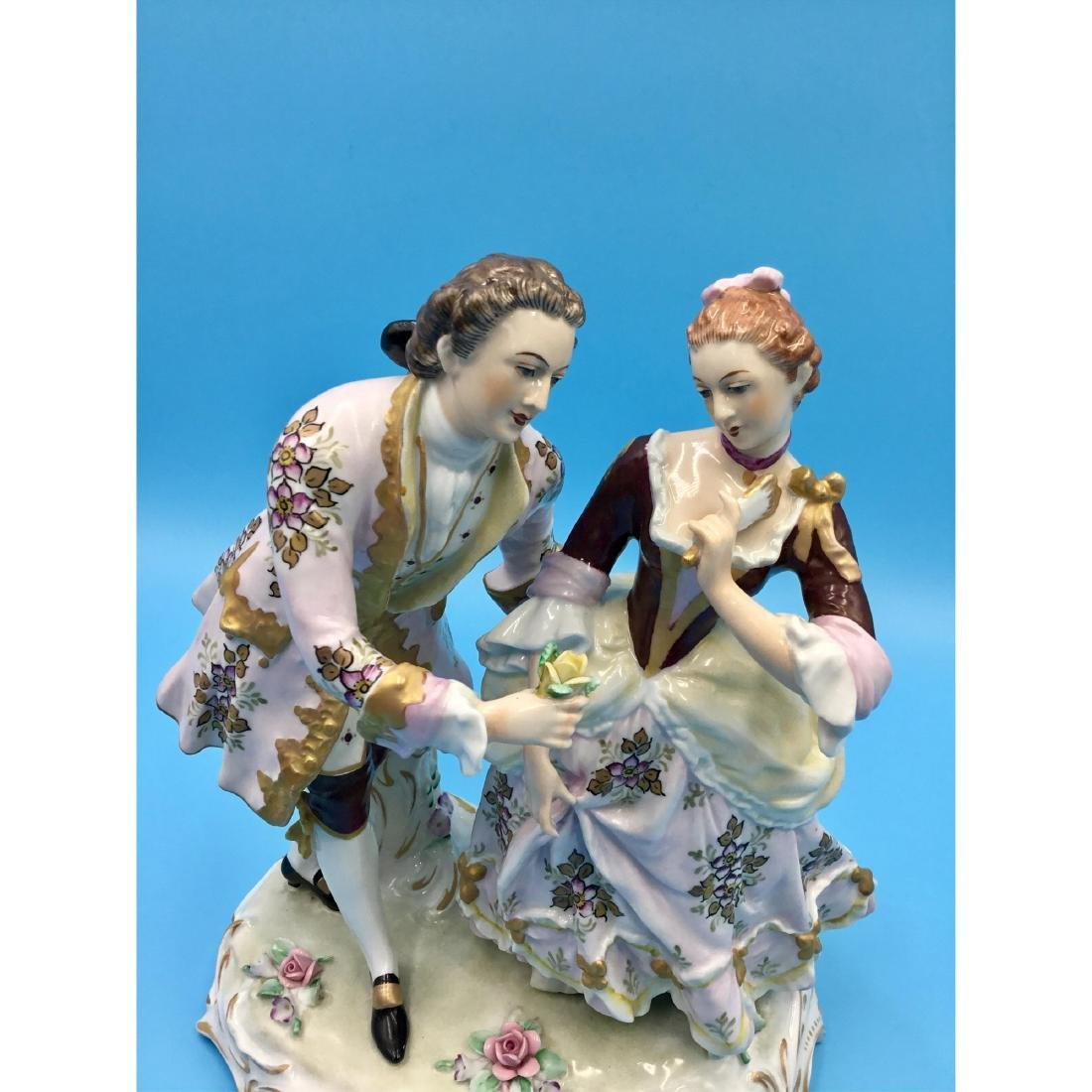SITZENDORF GERMAN PORCELAIN GROUP FIGURINE - 5