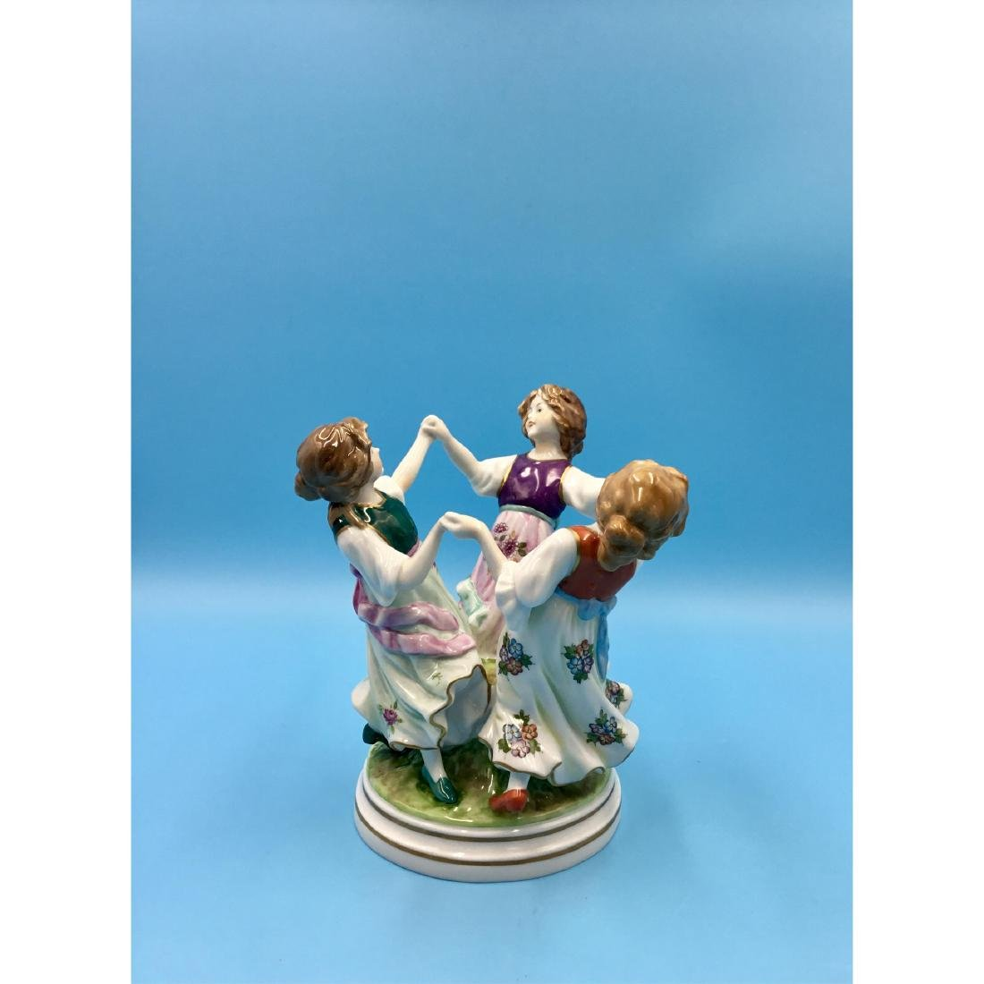 SITZENDORF GERMAN PORCELAIN FIGURINE GIRLS