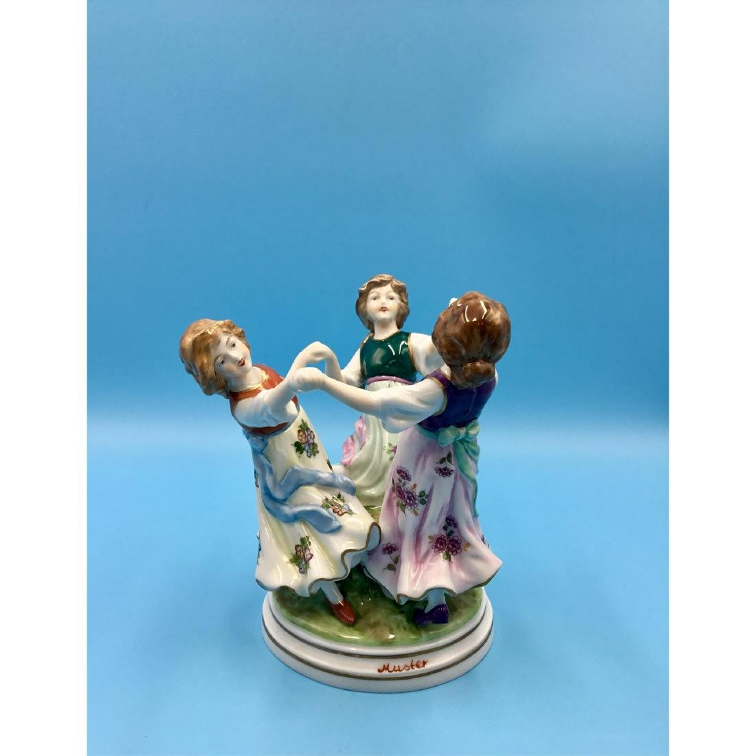 SITZENDORF GERMAN PORCELAIN FIGURINE GIRLS - 2