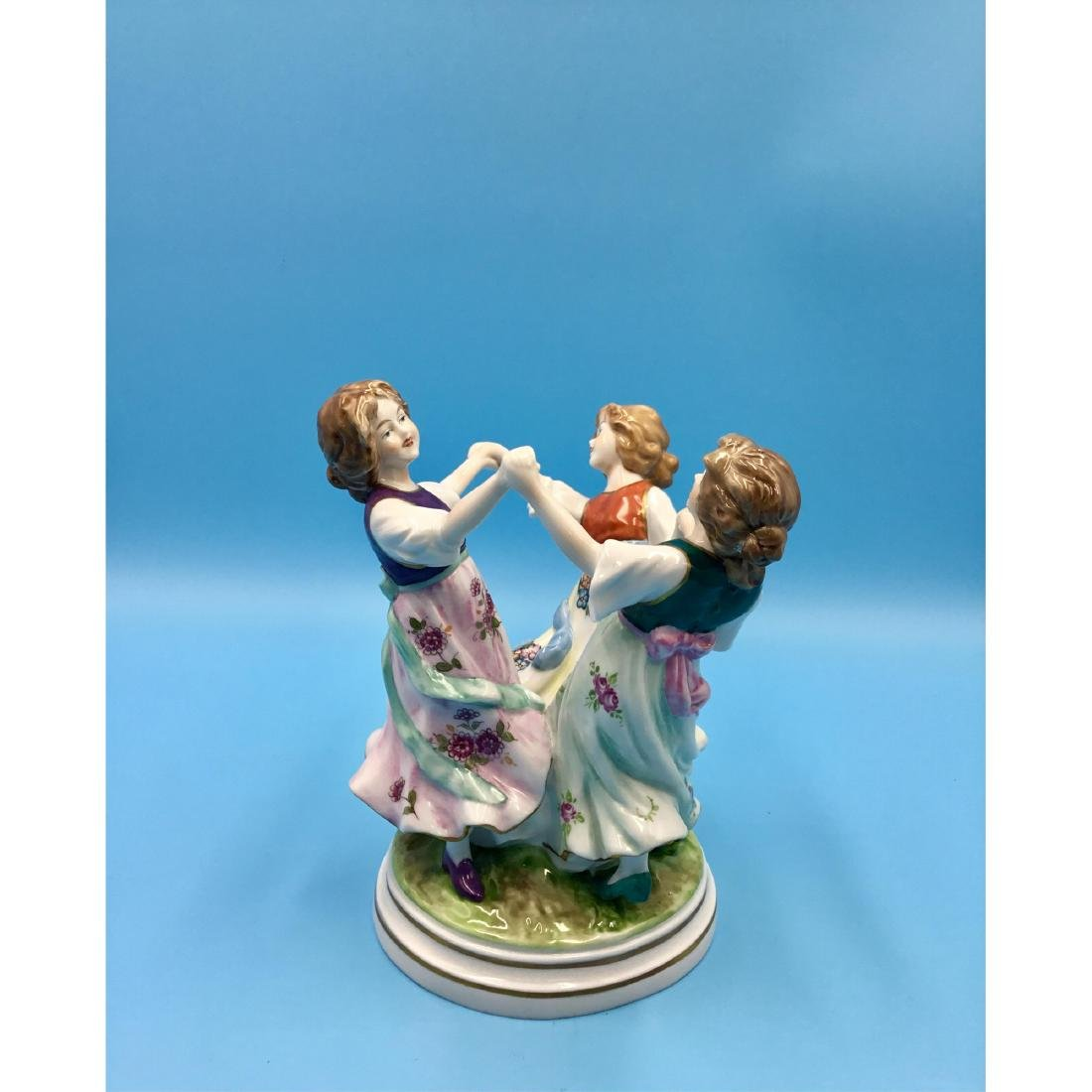 SITZENDORF GERMAN PORCELAIN FIGURINE GIRLS - 3