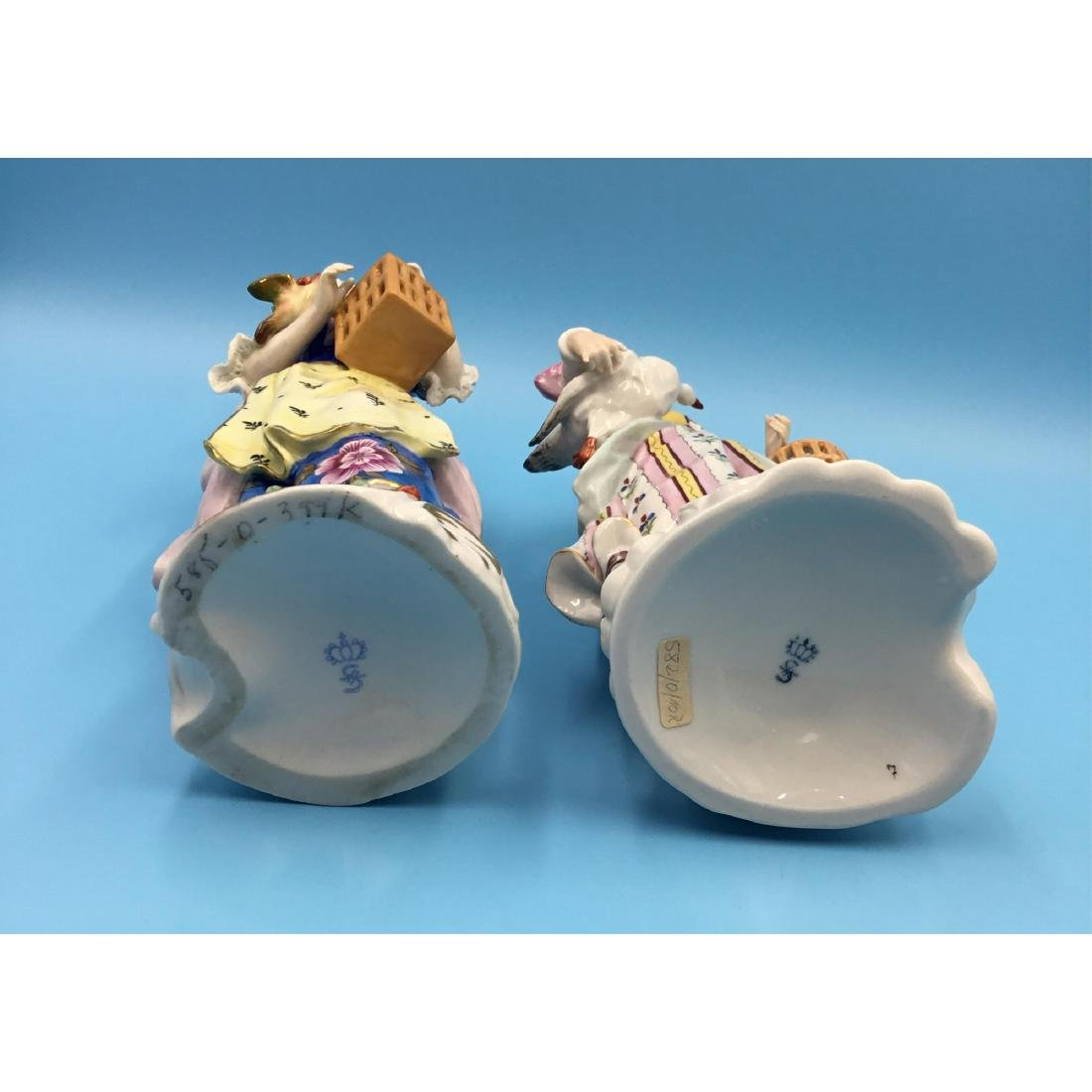 PAIR OF SITZENDORF GERMAN PORCELAIN FIGURINES - 5