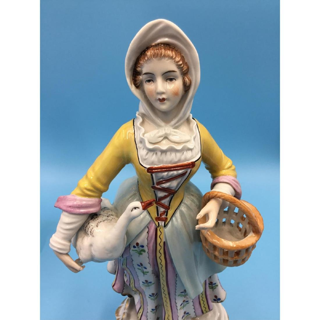 PAIR OF SITZENDORF GERMAN PORCELAIN FIGURINES - 7