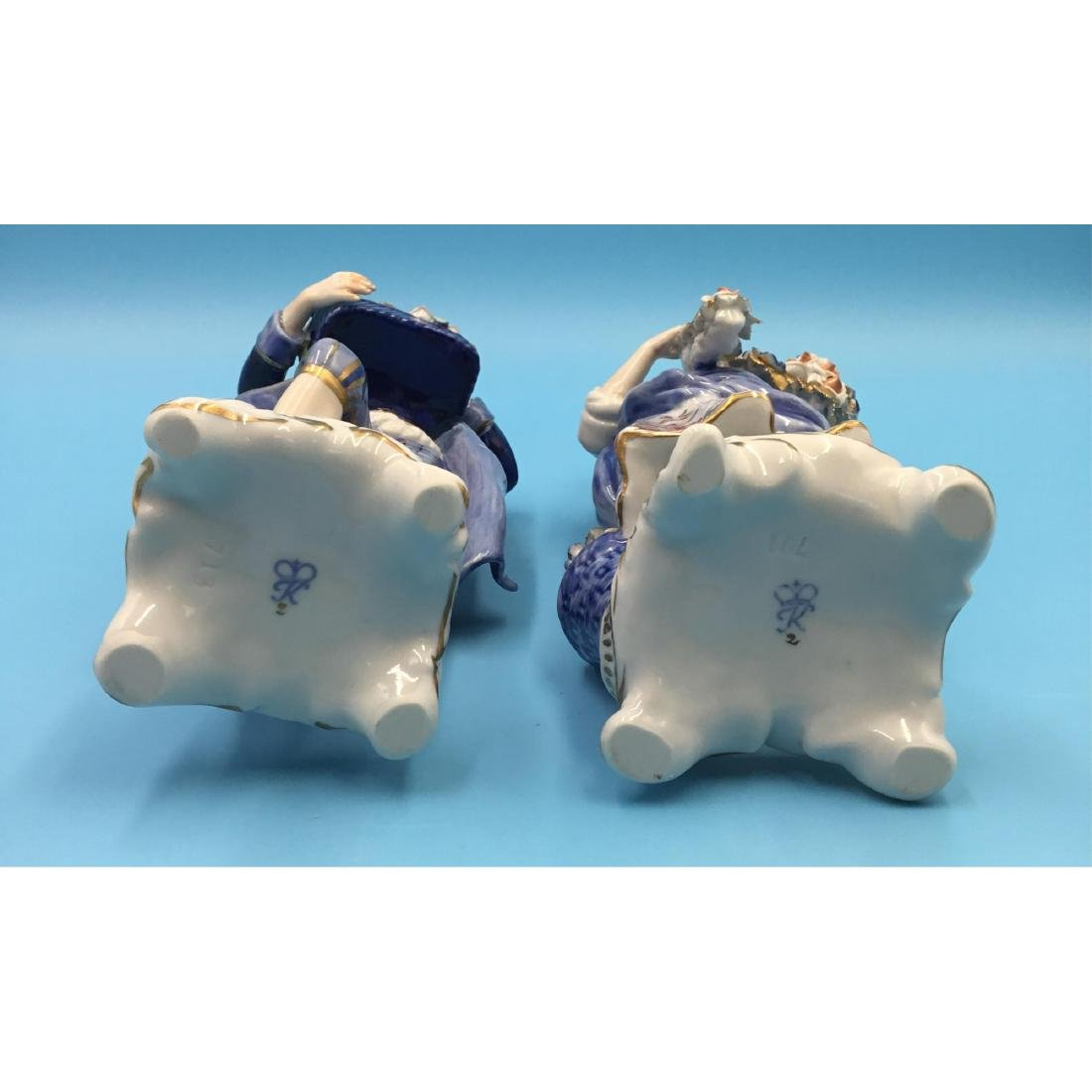 PAIR OF GERMAN PORCELAIN COUPLE FIGURINES - 5