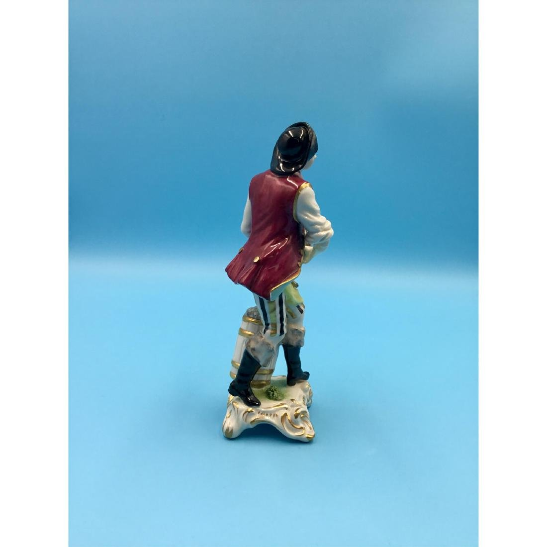 GERMAN PORCELAIN FIGURINE FISH SELLER - 5