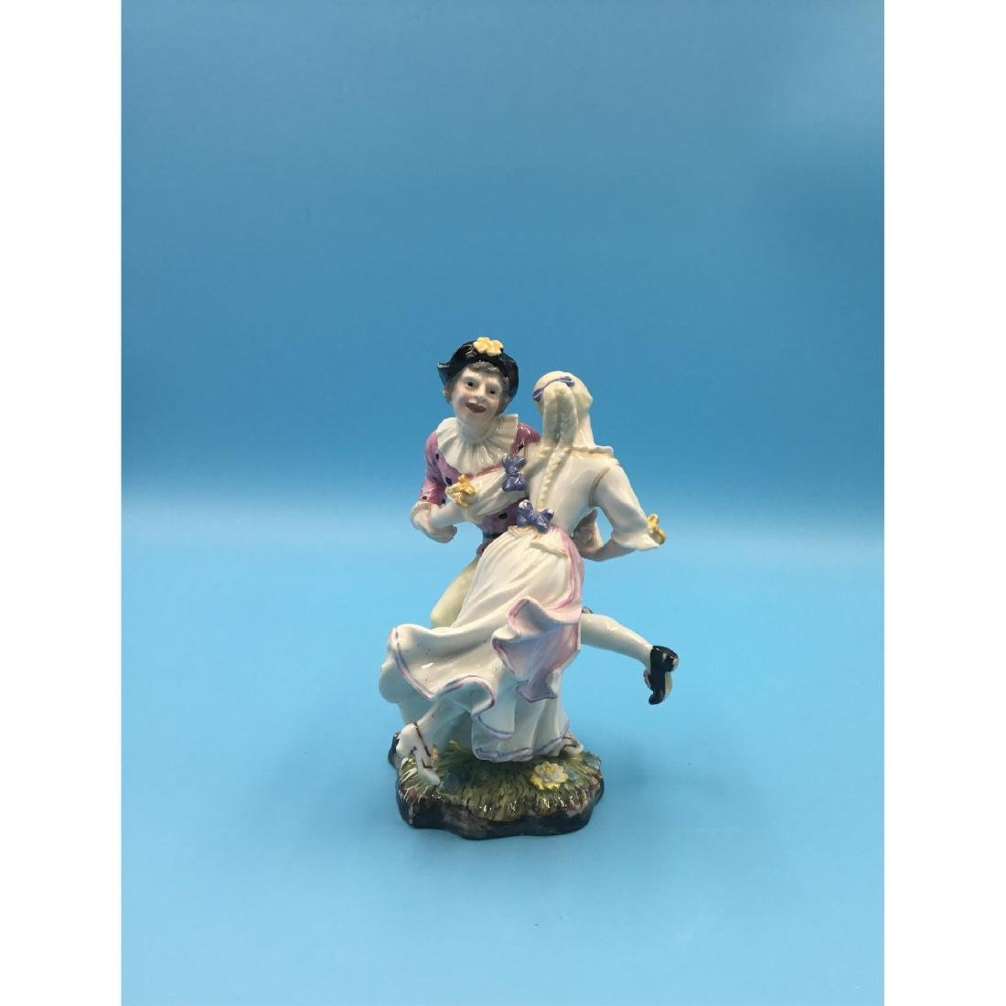 HOCHST 18TH C GERMAN PORCELAIN GROUP FIGURINE