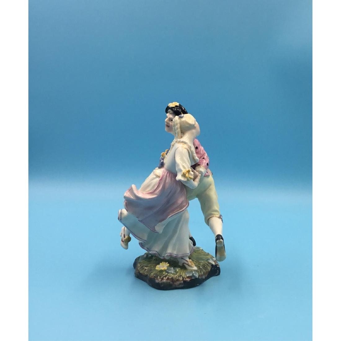 HOCHST 18TH C GERMAN PORCELAIN GROUP FIGURINE - 2