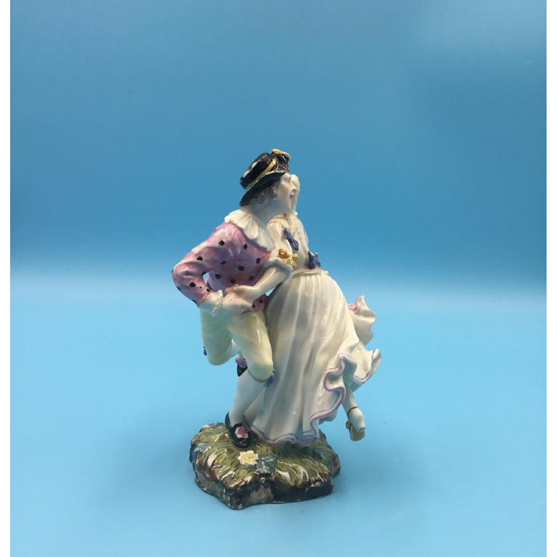 HOCHST 18TH C GERMAN PORCELAIN GROUP FIGURINE - 4