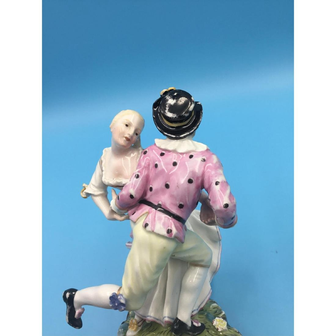 HOCHST 18TH C GERMAN PORCELAIN GROUP FIGURINE - 7