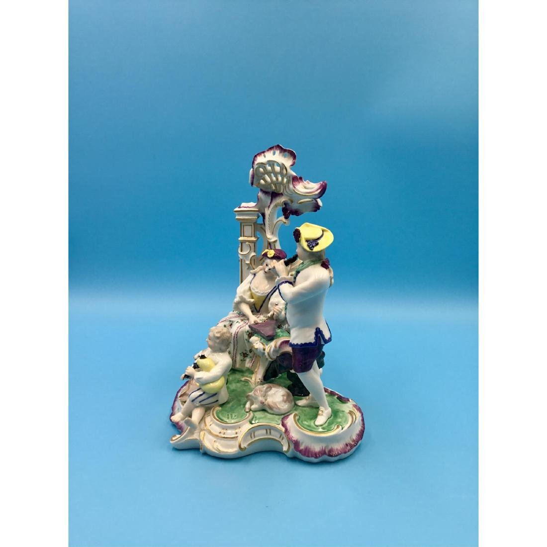 LARGE NYMPHENBURG GERMAN PORCELAIN GROUP FIGURINE - 2
