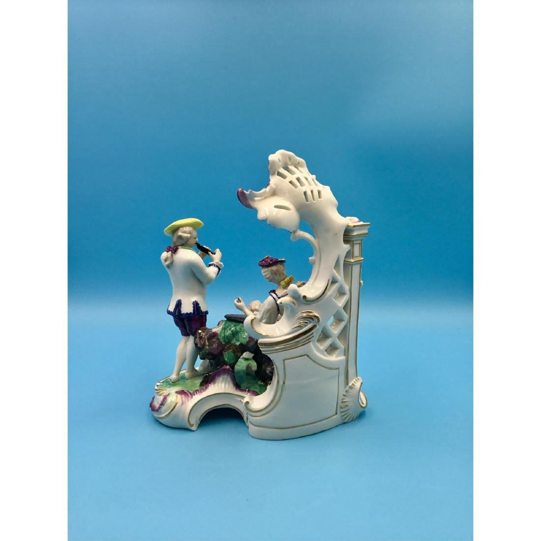 LARGE NYMPHENBURG GERMAN PORCELAIN GROUP FIGURINE - 3
