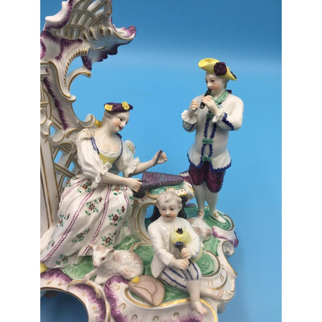 LARGE NYMPHENBURG GERMAN PORCELAIN GROUP FIGURINE - 6