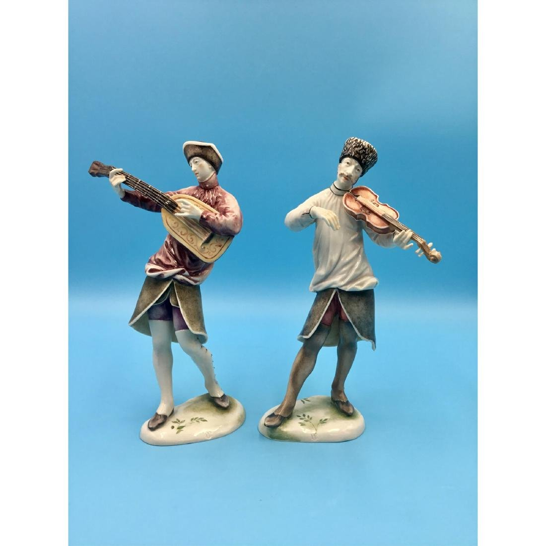 NYMPHENBURG GERMAN PORCELAIN MUSICIANS FIGURINES