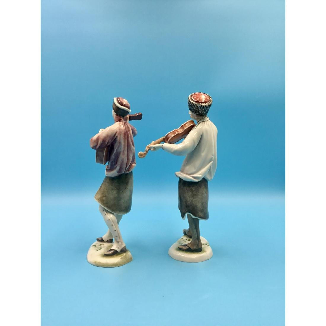 NYMPHENBURG GERMAN PORCELAIN MUSICIANS FIGURINES - 2