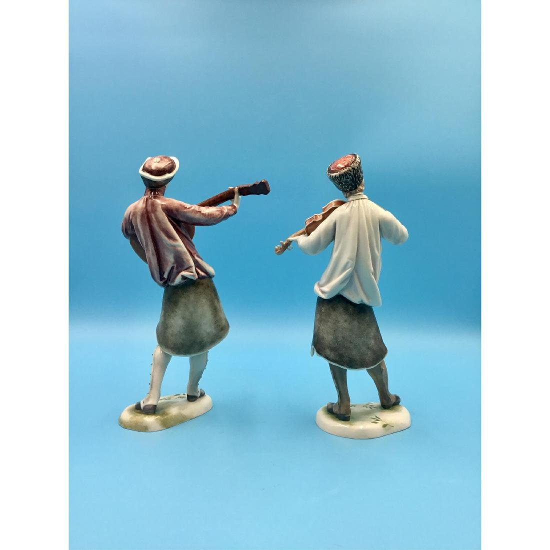 NYMPHENBURG GERMAN PORCELAIN MUSICIANS FIGURINES - 3