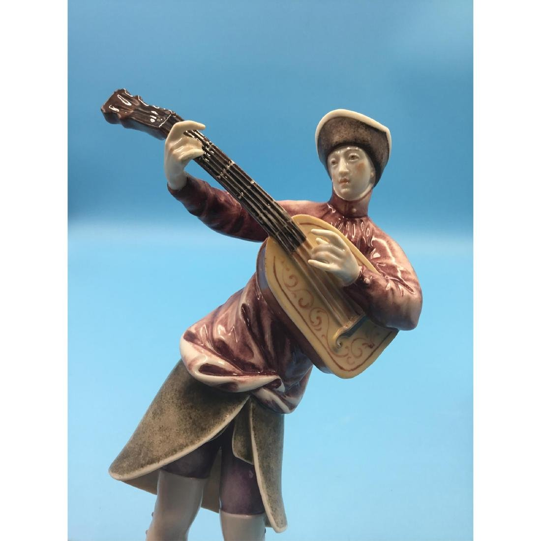 NYMPHENBURG GERMAN PORCELAIN MUSICIANS FIGURINES - 7