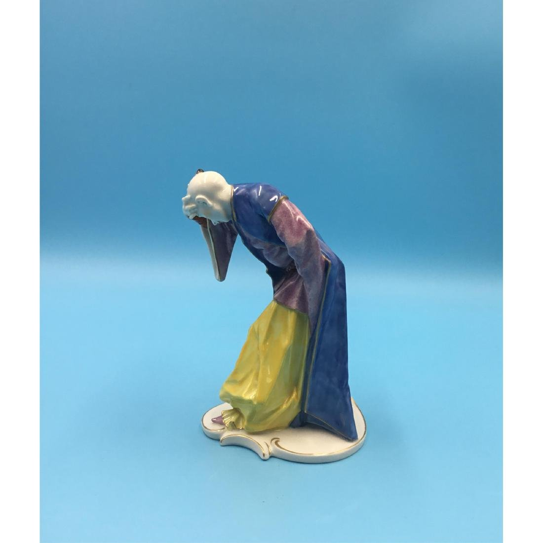 NYMPHENBURG CHINOISERIE GERMAN PORCELAIN FIGURINE - 2